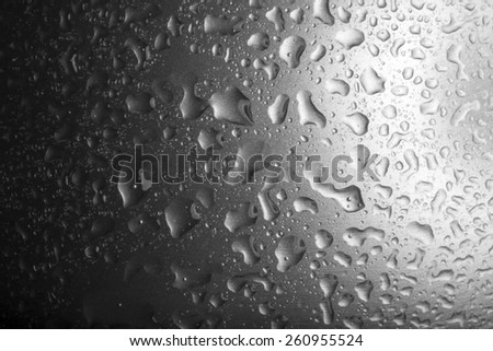 Abstract background - water drops on glass or metal