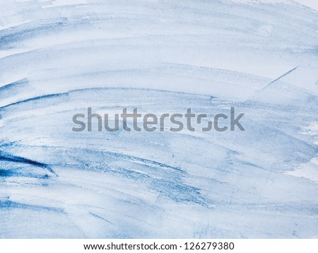 Abstract background, watercolor hand paint blue color - stock photo