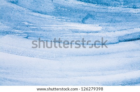 Abstract background, watercolor hand paint blue color