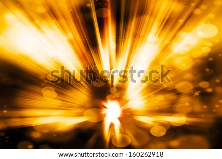 Abstract Background - wave of colorful light and bokeh