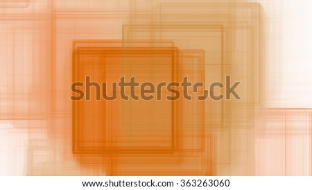 Abstract background with a detailed interconnected intersecting square pattern in orange
