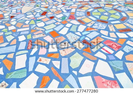 Abstract Background with a pattern of floor tiles - stock photo