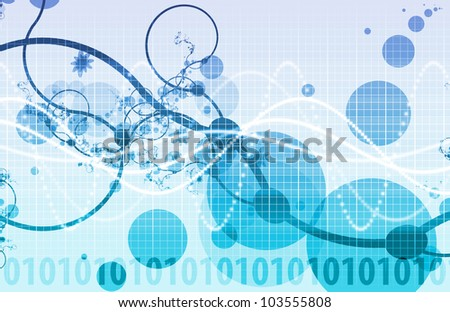 Abstract Background with a Technology Theme Art