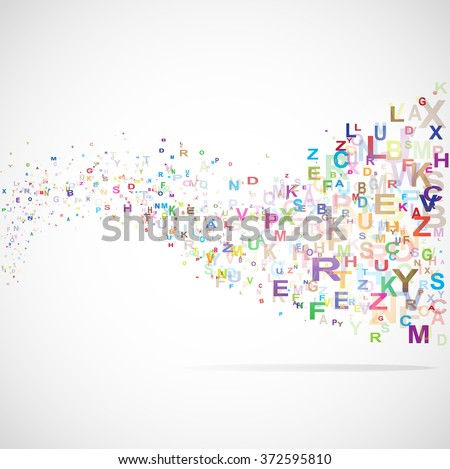 Abstract background with abc letters illustration