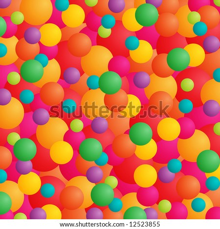 Abstract background with balls or balloons in bright colors.