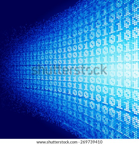 Abstract  background with binary code. . RGB. Global colors. Gradients used.
