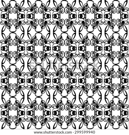 Abstract background with black and white pattern. raster copy of illustration - stock photo