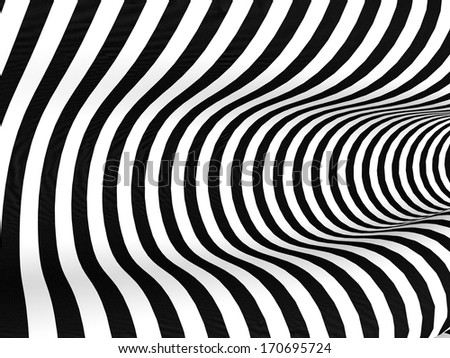 Abstract background with black and white stripes - stock photo