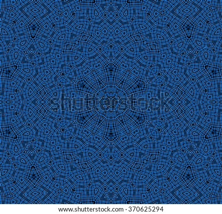 Abstract background with blue concentric pattern - stock photo