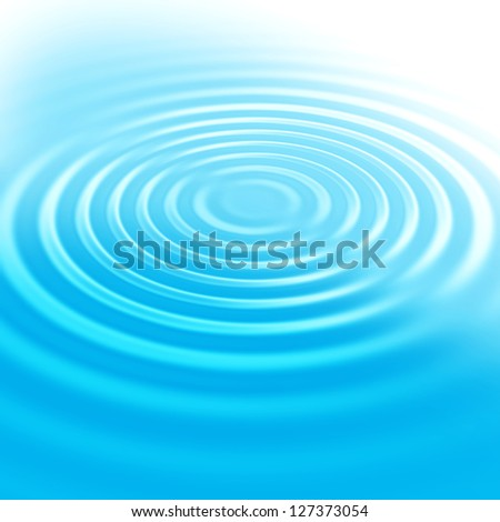 Abstract background with blue water ripples - stock photo