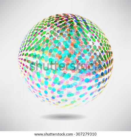 Abstract background with blur dots and lines on theme digital technology and internet