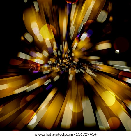 Abstract background with blurred defocused lights. For vector version, see my portfolio. - stock photo