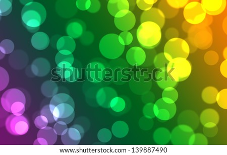 abstract background with bokeh and variety color