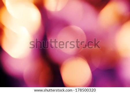 Abstract background with bokeh defocused lights and shadow.Multicolors bokeh.Vintage style.Disco lights. - stock photo