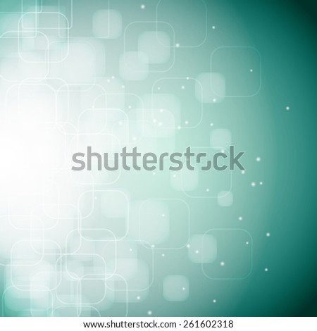 abstract background with bokeh effect, rounded rhombus  - stock photo