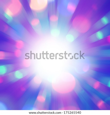 Abstract background with bokeh lights in motion blur and sunlight. - stock photo