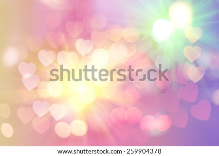 abstract background with bokeh lights on pink color. - stock photo