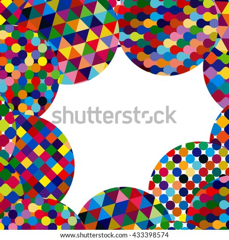 Abstract background with bright mosaic circles. - stock photo