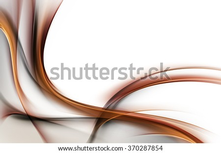 Abstract background with brown lines and waves. Composition of shadows and lights - stock photo