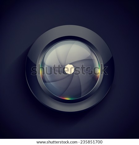 abstract background with Camera Lenses  - stock photo