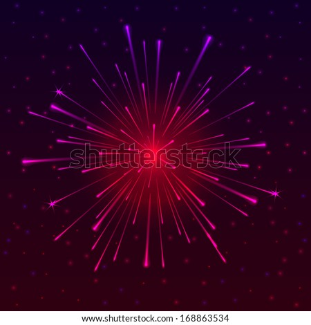 Abstract background with Celebratory Fireworks,  illustration - stock photo