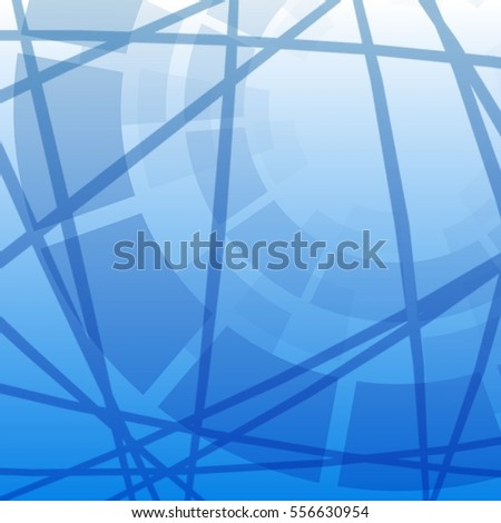 Abstract background with chaotic lines and geometric shapes
