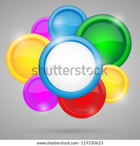 Abstract background with circles.Illustration.