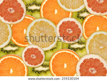 Abstract background with citrus-fruit . Close-up. Healthy food background. Studio photography.  - stock photo