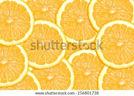 Abstract background with citrus-fruit of lemon slices. Close-up. Healthy food background. Studio photography.  - stock photo