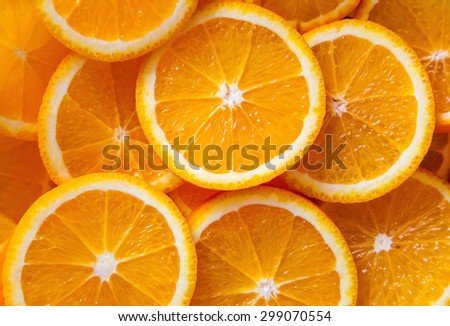 Abstract background with citrus-fruit of orange slices. Close-up - stock photo