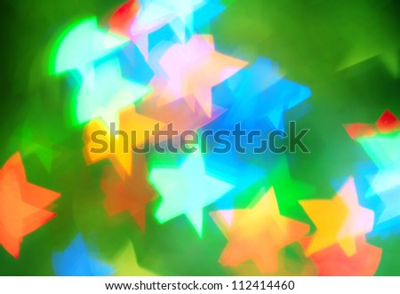 Abstract background with color stars - stock photo