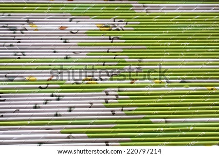 abstract background with colored paper strips - stock photo