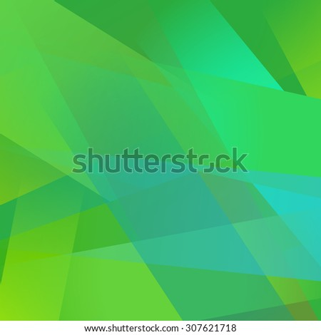 Abstract background with colorful green overlapping transparent layers - stock photo