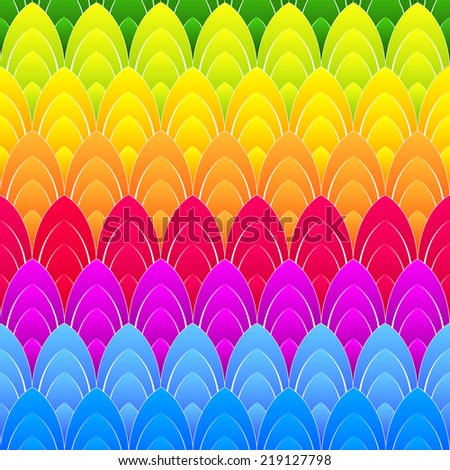 abstract background with concentric rainbow colourful ellipses - stock photo