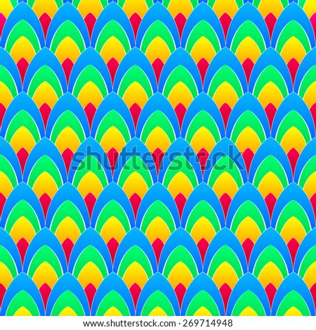 abstract background with concentric rainbow colourful ellipses with white contours - stock photo