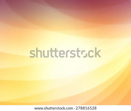 abstract background with curved lines in gold purple and orange, business background concept, shiny gold line design elements - stock photo