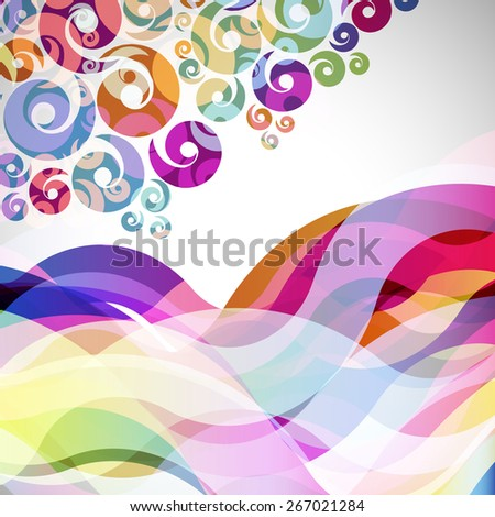 abstract  background with design elements.  - stock photo