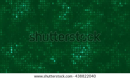 Abstract background with digitals.