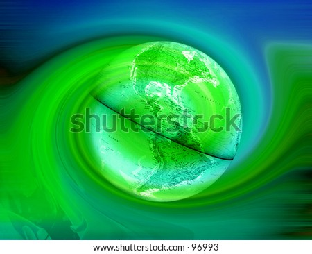 Abstract background with earth - stock photo