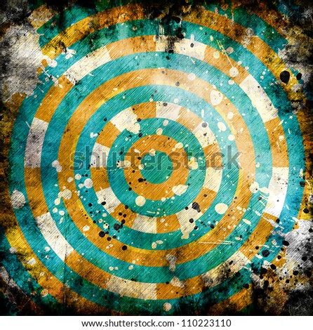 abstract background with elements of circles - stock photo