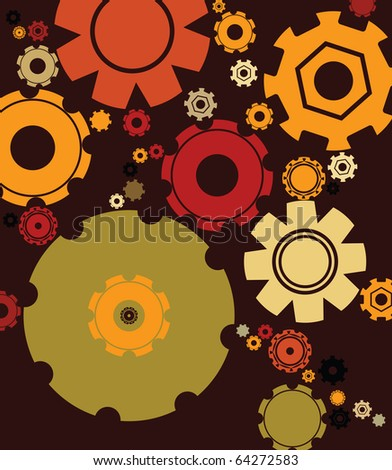 Abstract background with gears, cogwheels - stock photo