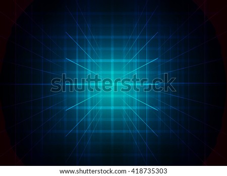 Abstract background with glow lines or beams. Technology concept