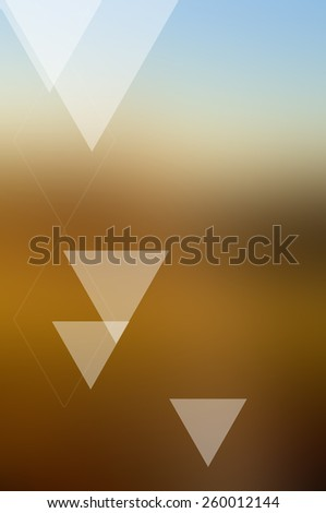 Abstract background with glowing triangles - stock photo