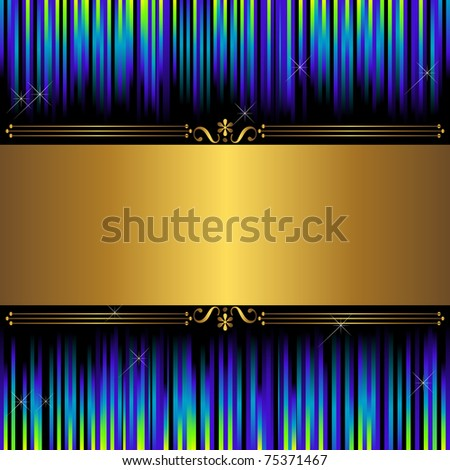Abstract background with golden banner.  Similar image in vector format  in my portfolio. - stock photo
