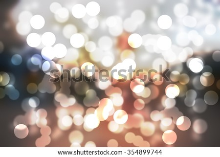 abstract background with golden twinkle Bokeh - stock photo