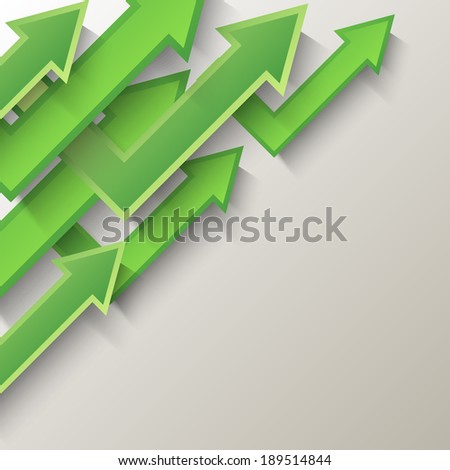Abstract  background with green arrows.