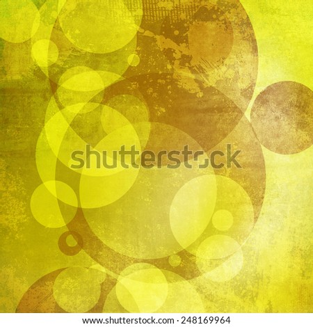 Abstract background with green circles - stock photo