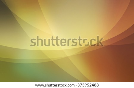 abstract background with green gold and orange curved lines and layers pattern - stock photo