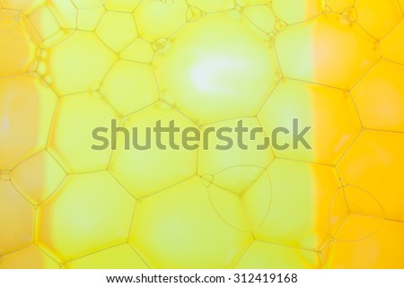 Abstract background with hexagonal geometric shapes. Soap suds extreme closeup. - stock photo