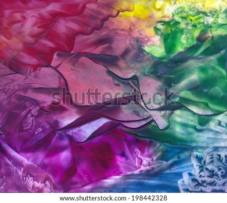 Abstract background with hot wax painting effect. - stock photo